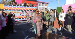 Hot dog! M Missoni stages a fashion show in Pink's parking lot