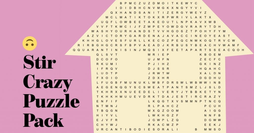 Print & Play: 3 puzzles for the quarantine-weary