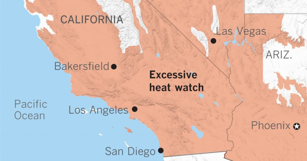 Heat wave forecast for Southern California Labor Day weekend