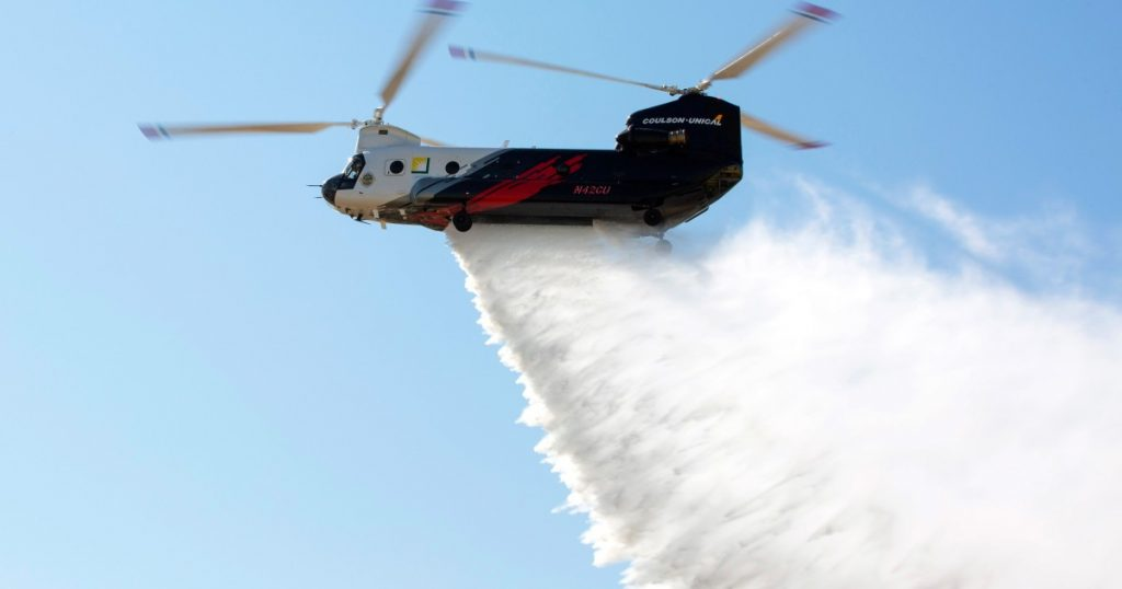 World's largest helitanker can drop 3,000 gallons on fires