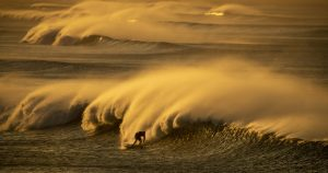 Santa Ana winds will raise red flags on land and big waves