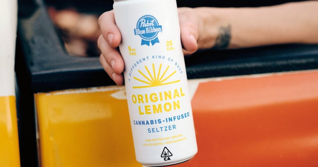 Pabst Blue Ribbon introduces a cannabis-infused seltzer