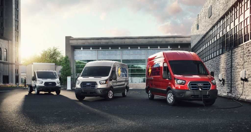 Ford debuts E-Transit electric commercial vans