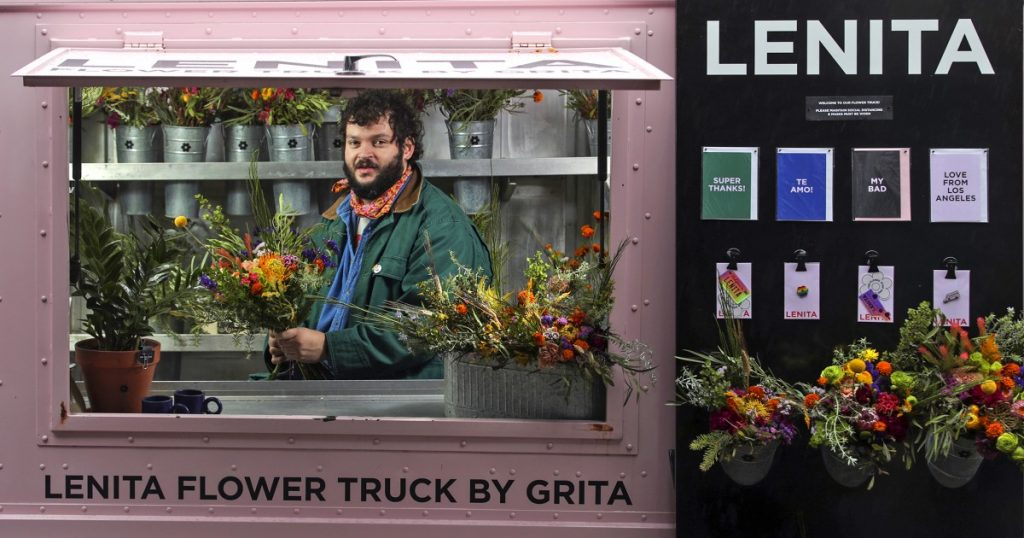 The flower truck he bought on Craigslist is his COVID lifeline