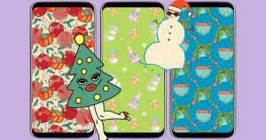 To download: Festive phone, Zoom backgrounds by L.A. artists