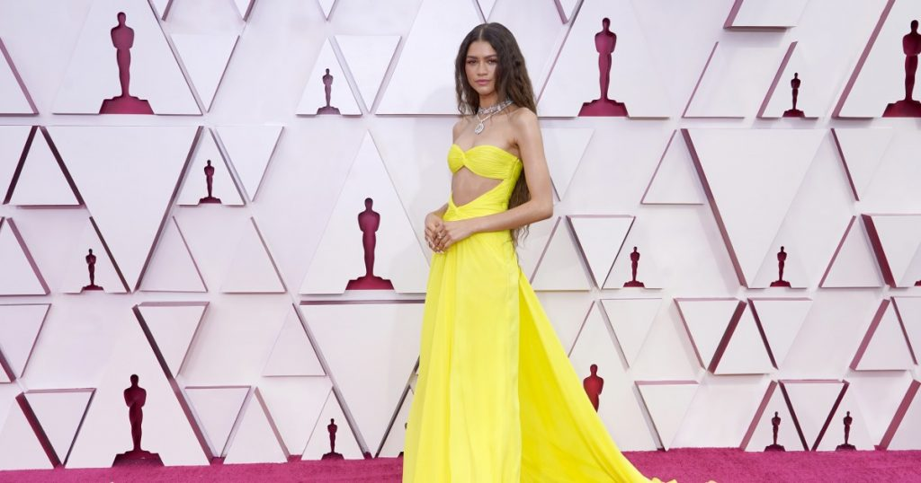 2021 Oscars red carpet: Fashion takes over Union Station