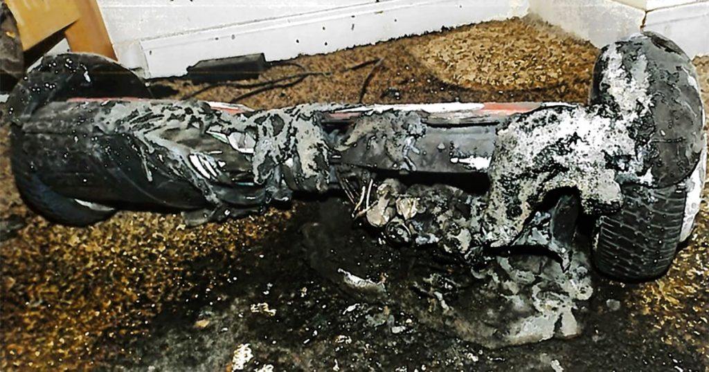 Burnt hoverboard from Amazon results in a win for consumers
