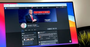 After Facebook banned Trump, his page became a weird shrine
