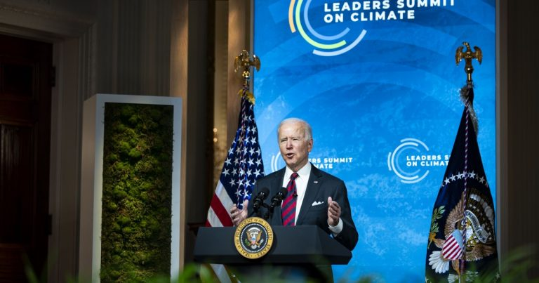Biden touts clean energy jobs to close climate change summit